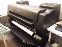 Nearly New Excellent Condition Canon Pro-4000s 44inch Printer with Dual Roll and Stand and Basket