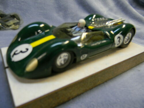 1/24 SCALE VINTAGE RUSSKIT 1966 LOTUS 40 ALUMINUM PAN SIDEWINDER GREEN SLOT CAR-
