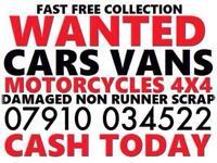 8376868f99 Ø791ØØ34522 CARS VANS WANTED CASH TODAY EVEN SCRAP DAMAGED NON RUNNERS  London Essex Kent z