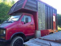 Camper Van Food Truck Mobile Home Old Dodge Vehicle Catering Trailer Coffee Van