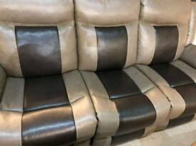 Baxter ex display grey and brown 3+3+2 seater