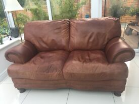 3 Piece Brown Leather sofa Suite
