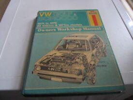 VW GOLF & SCIROCCO HAYNES MANUAL