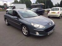 PEUGEOT 407 2.0 SV PETROL 2004 04 REG GREY TOP SPEC CLIMATE AIR CON ALLOYS CD 3 OWNERS 85K 406 807