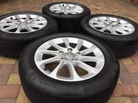 """Genuine 16"""" Audi A3 A4 Alloy wheels and Continental tyres will fit VW Golf"""