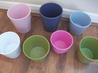 30 to 40 Coloured Ceramic Pots