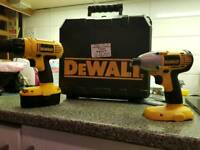 Dewalt combi pack cordless drill and impact driver
