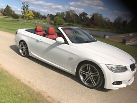 bmw 325d m spoet red leathers