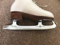Klingbeil custom made figure skates with Mk Phantom special blades