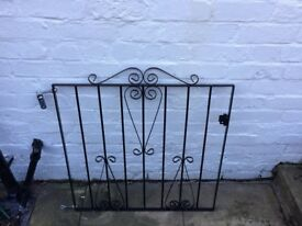 New Black metal garden gate, never been used