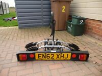 Thule cycle carrier for 2 bikes, fitted on a tow bar