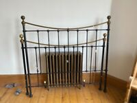 Black Metal Double bed frame FREE