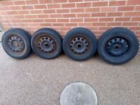 7 Wheels with Tyers 14 inch