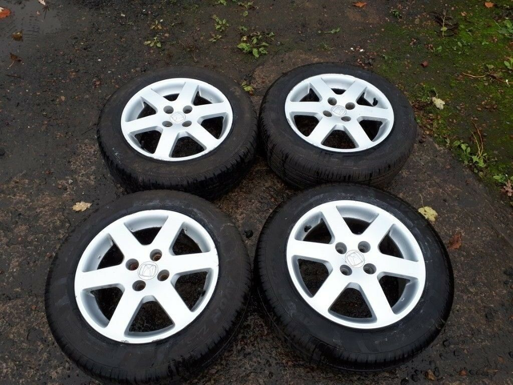 Genuine Honda Civic Jazz Alloy Wheels Excellent Tyres 4x100 Pcd
