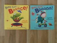 2 X BABIES/TODDLERS PLASTIC COATED PAPERBACK STORY PICTURE BOOKS