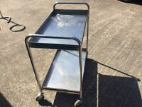 Stainless Steel Trolley 2 tiers