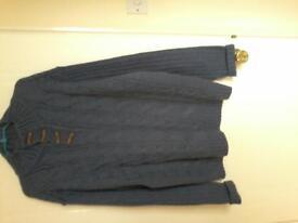 Man's winter blue jumper