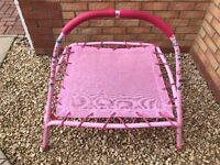 Toddlers Pink Trampoline with Bar