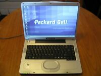 "PACKARD BELL 15.4"" LAPTOP Windows XP integrated wifi dvd writer"
