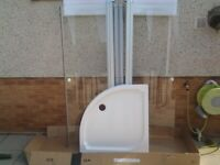 Quadrant shower enclosure 900 x900. Includes tray and fittings., used for sale  Forfar, Angus