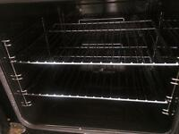 Stainless steel indesit 60cm gas cooker grill & double oven good condition with guarantee