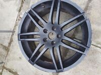 """4 Audi alloy wheels 3 with 19"""" tyres"""