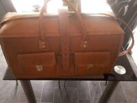 Unused leather holdall