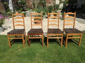 Ercol Dining Table and 4 Ercol Chairs
