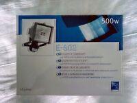 500W Security Floodlight With Motion Sensor. Weatherproof. Unused.