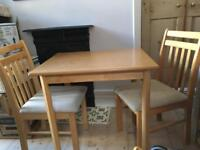 Cotswold Company table and two chairs ideal for kitchen