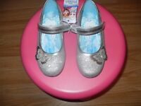 Brand New Disney Frozen Silver Sparkly Party Shoes - Size 10