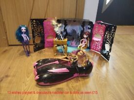 monster high 13 wishes ipod set & car collect or delivery Stonehaven just up from open air pool