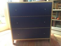 Ikea Chest of drawers - 3 drawers - blue - Billy