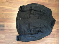 Motorbike jacket, Black, Armoured, size XL, not had much use.