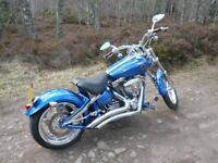 Harley Davidson Rocker C, Immaculate condition, £5K worth of extras fitted.
