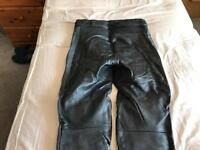 Motorcycle two piece leathers