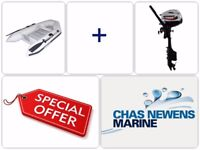 Cheap Boat Package - NEW QS240 dinghy rib tender & 2.5hp Outboard Engine All in One - Special Offer