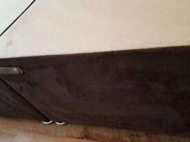 4' bed base good condition brown brown faux on sides come in 2 pieces
