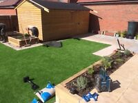 Gardening Astroturf Lawns Landscaping Artificial Grass Patio Paving Slabs Shed Outhouses