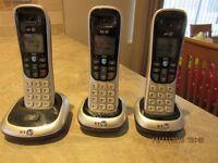 BT 2100 dect phone trio handset