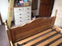 5 foot pine bed frame