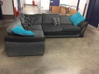 Black DFS Corner Sofa! Free Delivery!