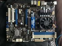 Amd motherboard and processor