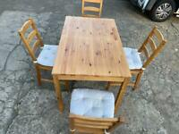 🚚🚚 🚚✅✅✅Beautiful Dinning Table With Four Chairs For Sale Free Delivery Radius Apply ✅✅✅