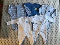 Newborn boys sleepsuits