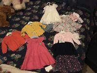 Bundle 3-6 baby girls clothing