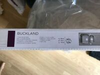 COOKE & LEWIS BUCKLAND 1.5 BOWL POLISHED STAINLESS STEEL SINK & DRAINER + WASTE PACK
