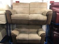 NEW - EX DISPLAY LAZYBOY CORD 3 + 2 SEATER RECLINER SOFAS SOFA 75% Off RRP SALEE