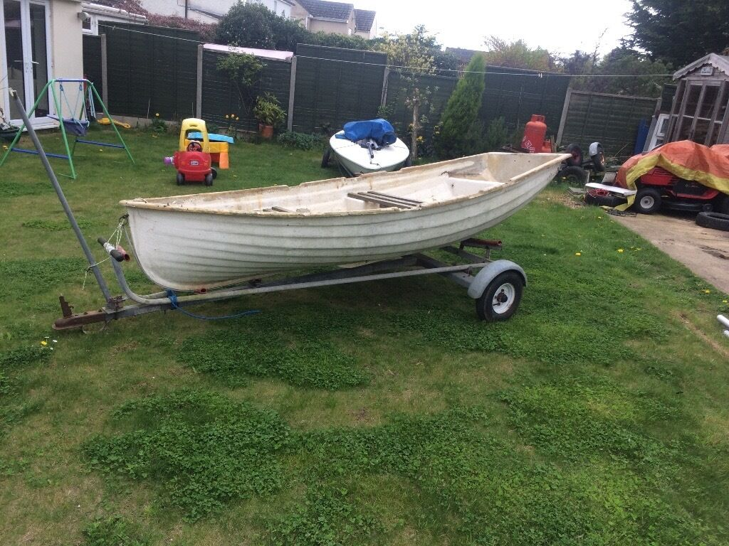 12ft Fibreglass Rowing Fishing Boat Tender In