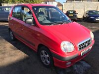 Hyundai Amica GSI 999cc Petrol Automatic 5 door hatchback W Reg 18/07/2000 Red